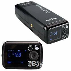 Godox Ad200 Ttl Pocket Flash Speedlite Double Têtes Pour Canon / Nikon / Sony / Reflex Numérique