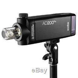 Godox Ad200pro Ttl 2.4g Pocket Camera Flash Pour Nikon Canon Sony Fuji Olympus