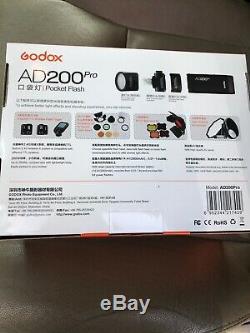 Godox Ad200pro Ttl 2.4g Pocket Flash Pour Appareil Photo Numérique Fuji Olympus Panasonic Pentax