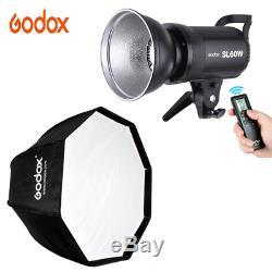 Godox Sl-60w 5600k 60w Led Vidéo Lumière Télécommande Sans Fil + Softbox B1k8