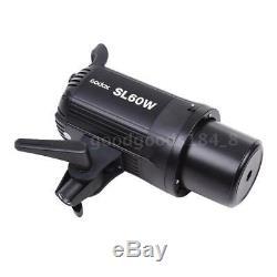 Godox Sl-60w Led Haute Puissance Lampe Vidéo Télécommande Sans Fil + Bowens Mont