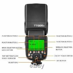 Godox Tt685n Ttl 2.4g Sans Fil Rss 1 / 8000s Gn60 Speedlite Caméra Flash Pour Nikon