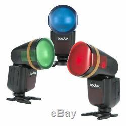 Godox V1-n 2.4g Ttl Speedlite Xpro Trigger + Filtres De Couleur Pour Nikon