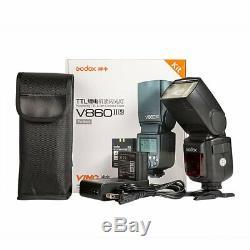 Godox V860ii-n Gn60 2.4g I-ttl À Piles Li-on Avec Caméra Flash Speedlite F Nikon