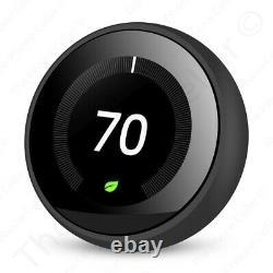 Google Nest Learning Thermostat T3018es (3e Génération) Miroir Noir Alexa Wifi Noir