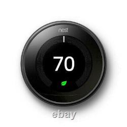 Google Nest T3018us 3ème Génération Thermostat Programmable Miroir Noir