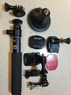 Gopro 7 Caméra Black Action W. 64gb Carte, Wifi À Distance, Monte, Et Plus