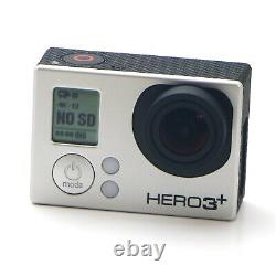Gopro Hero 3+ Plus Black Edition Batteries Sd Cards Extras Excellent État