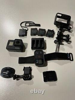 Gopro Hero7 Black 4k Waterproof With Wrist Remote, Extra Batteries, Case, Plus