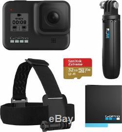 Gopro Hero8 Noir 4k Caméra D'action Étanche Bundle Spécial Noir