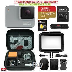 Gopro USA Hero 7 Caméra Blanche + Étui Sandisk 32 Go Microsd + Pour Gopro (chdhb601)