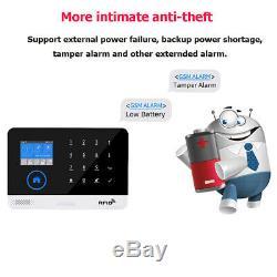 Gsm Wifi 3g Sans Fil Gprs Système D'alarme App Télécommande Antivol Maison De Sécurité