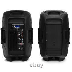 Haut-parleurs À Double 12 1600w 2-way Avec Haut-parleurs Bluetooth MIC