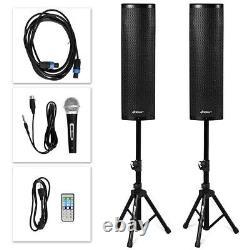 Haut-parleurs Tower Pair Amplified Floor Standing 2000w Bluetooth Speakers Set Tripod