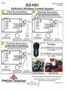 Inclinez Le Treuil D'ascenseur Hydraulique De Système De Contrôle À Distance Sans Fil De Remorque De 12 Volts