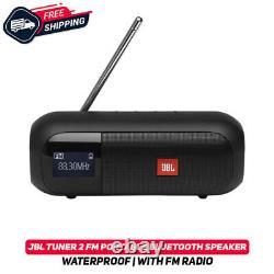 Jbl Tuner 2 Fm Portable Bluetooth Haut-parleur Étanche Avec Radio Fm Ipx7 Noir Nouveau