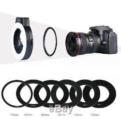 K & F Concept Kf-150 I-ttl Macro Anneau Flash Light Speedlite 6 Adaptateurs Pour Nikon
