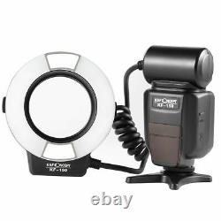 K & F Concept Kf-150 I-ttl Macro Flash Light Anneau Speedlite + 6 Adaptateurs Pour Nikon