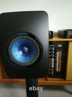 Kef Ls50 Haut-parleurs Sans Fil Gloss Noir/bleu