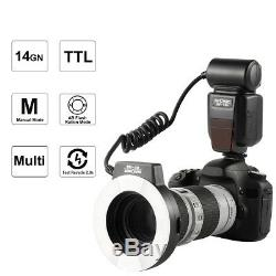 Kf-150 Macro Bague Flash Light 6 Adaptateur Noyaux Pour Reflex Numérique Nikon Caméra K & F Concept