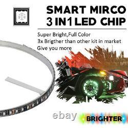 Kit De Lumière D'anneau De Roue Led X-light 4pc 17 Millions De Couleurs Pour 16 Rotors