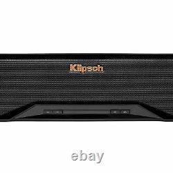 Klipsch Rsb-6 Black Sound Bar Avec Un Subwoofer Sans Fil De 6,5 Pouces Rsb6