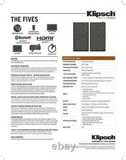 Klipsch The Fives 2.0 Channel Librairie Haut-parleurs Ebony (pair)