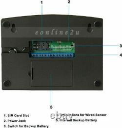 LCD Sécurité Sans Fil Mobile Sim Gsm Autodial Maison Burglar Intruder Alarme