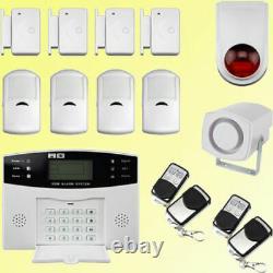LCD Security Wireless Mobile Sim Gsm Autodial Home House Burglar Intruder Alarme