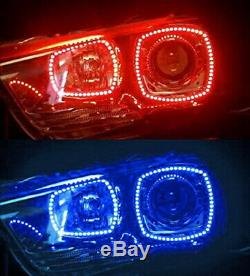 Led Sans Fil Rgb 7 Couleurs Angel Eyes Halo Anneaux Kit Pour 2011-14 Dodge Charger