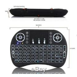 Lot 20 X Rétro-éclairage I8 Clavier Sans Fil 2,4 Ghz Clavier À Distance Touchpad Contrôle
