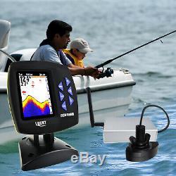 Lucky Écran Couleur Bateau Fish Finder Télécommande Sans Fil 300m / 980ft Pêche