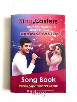 Machine Karaoké Anglaise Singmasters Magic Sing, 13000 Chanson Anglaise, 2 Wireless MIC