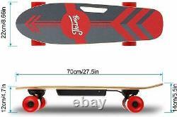 Mini Electric Skateboard 350w Motor Longboard Board Sans Fil Avec Contrôleremote