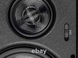 Monoprice Fibre De Carbone 3-way Dans Les Haut-parleurs Muraux 8 Pouces (paire) Avec Grille Magnétique