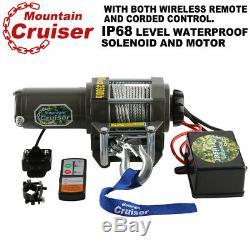 Montagne Cruiser 3500lb Winch Atv 3500 Lb / 1591 KG Télécommande Sans Fil