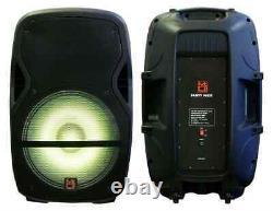 Mr Dj Partypack Portable 15'' Bluetooth Karaoke Party Pa Dj Audio Speaker Stand