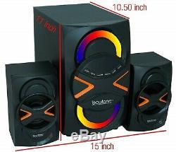 Multimédia Stéréo Accueil Système D'enceintes Sans Fil Bluetooth Mp3 Fm Télécommande