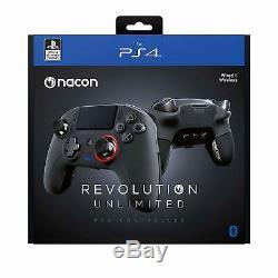 Nacon Revolution Controller Pro Illimité Sony Ps4 Pc Filaire + Télécommande Sans Fil