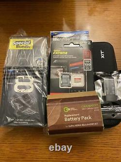 Newithsealed Gopro Hero 8 Noir (paquet Spécial)! Batterie Supplémentaire + Accessoires