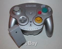 Nintendo Gamecube Wavebird Télécommande Sans Fil Avec Récepteur Platinum