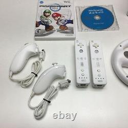 Nintendo Wii Console Mario Kart Bundle Avec Wii Sports, 2 Contrôleurs & 2 Roues