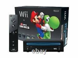 Nintendo Wii Console Noire Avec Nouveau Super Mario Bros (réduction)