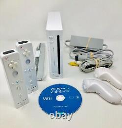 Nintendo Wii Sports Console Bundle Wii Système Avec 2 Contrôleurs Cleaned