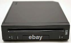 Nintendo Wii Video Game System 2 Remote Bundle Black Console + Nouveaux Accessoires