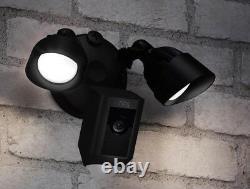 Nouveau Anneau Projecteur Extérieur Wi-fi Motion Activé Cam Caméra De Sécurité Noir