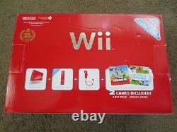 Nouveau Nintendo Wii Super Mario Edition Limitée Red Console System 25e Anniversaire