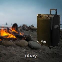 Nouveau Portable 600w Watt 10 Bluetooth Dj Party Event Speaker Wireless MIC Fm Usb