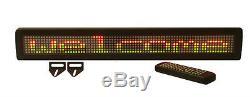 Nouveau! Tricolor Led Programmable Scrolling Affichage Des Messages + Connexion Sans Fil À Distance