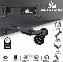 Outstorm 31mph Planche À Roulettes Électrique Tout-terrain (3300w) 11ah Batterie 19 Miles Gamme